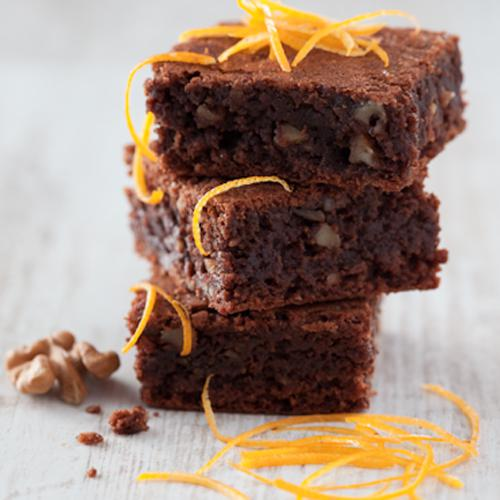 Brownie chocolat orange