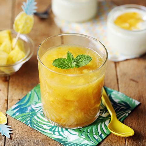 confiture ananas menthe